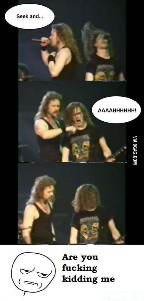 Metallica Fail - Jason Pisses Off James