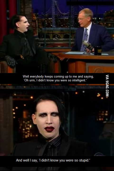 Marilyn Manson being awesome