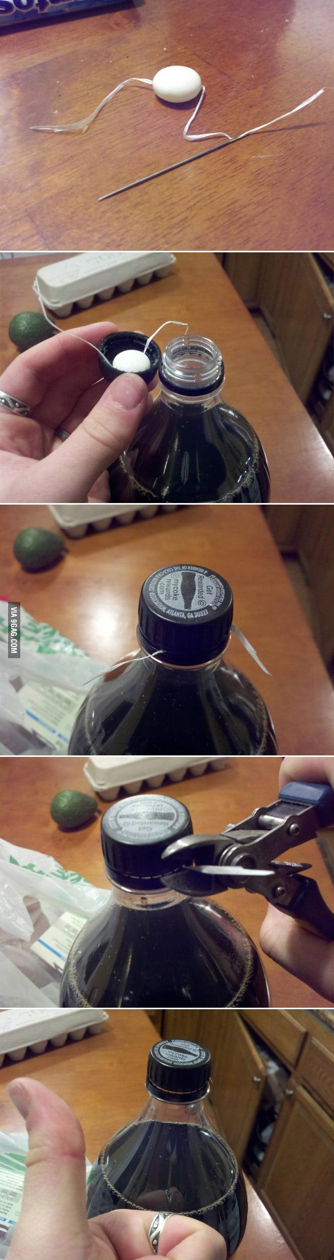 Coke + Mentos prank