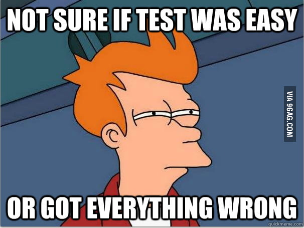Not sure if test was easy...
