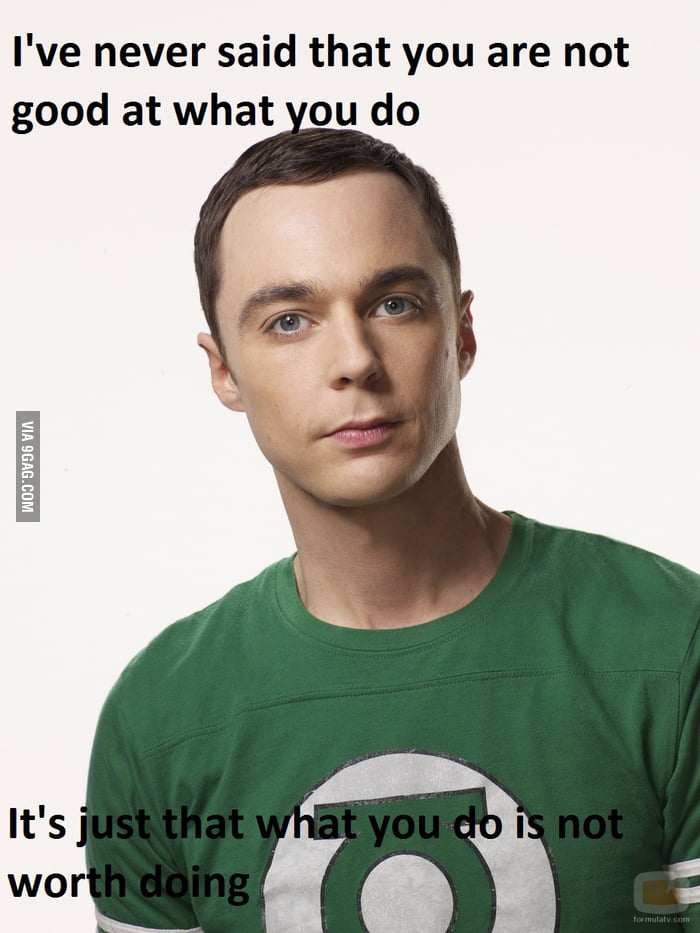 Motivational Speech LVL: Sheldon
