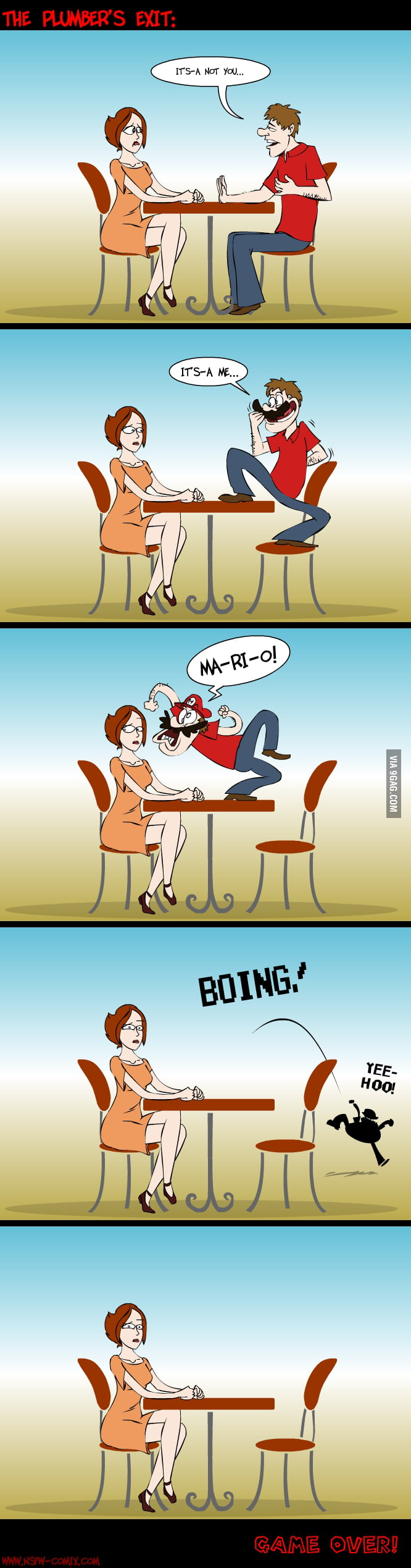 Breaking up - Mario style
