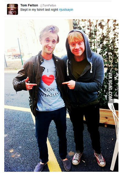 Just Tom Felton and Rupert Grint