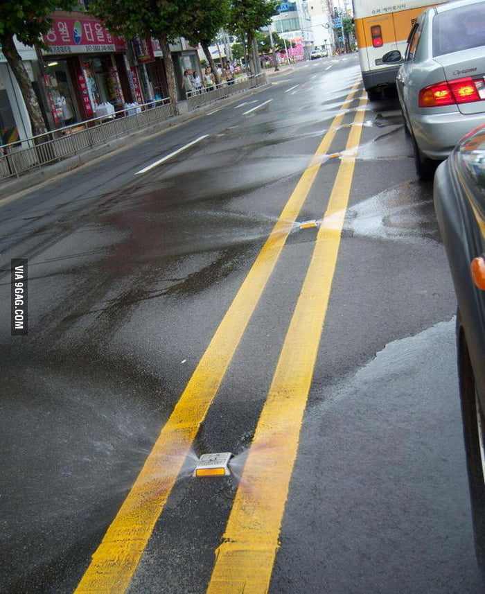 In Korea, streets clean themselves!