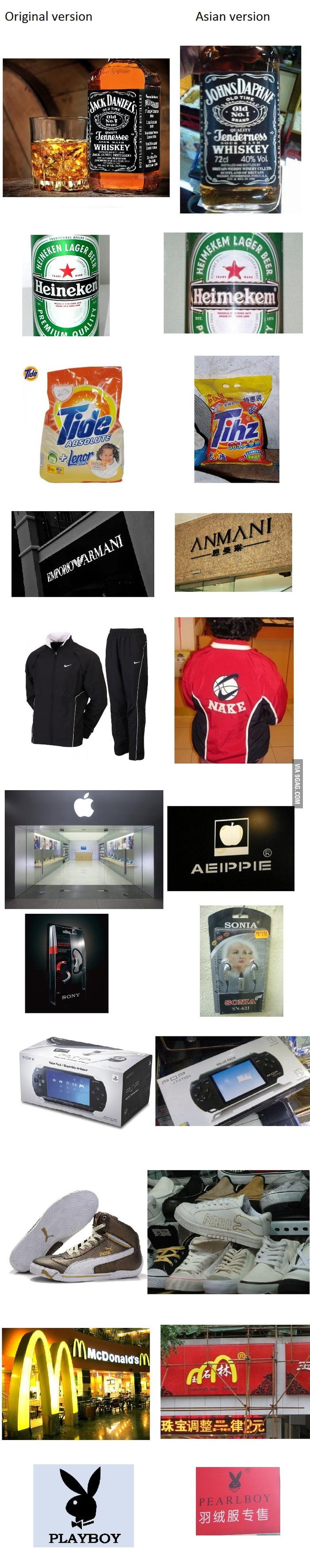 Brand level: Asian
