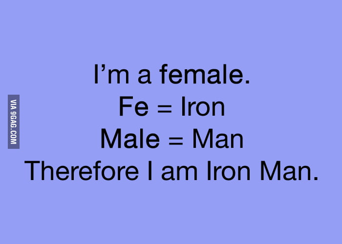 Female = Iron Man