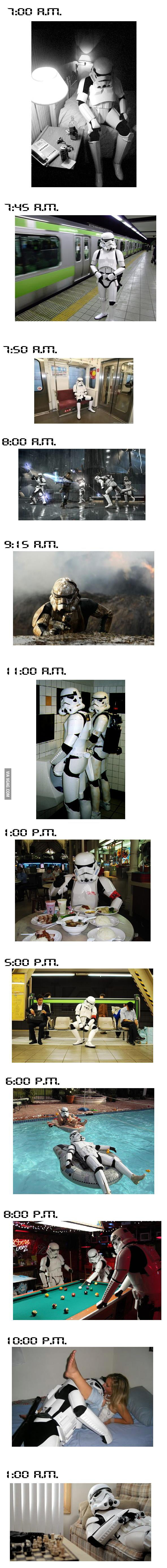 1 Day with Mr. Stormtrooper.