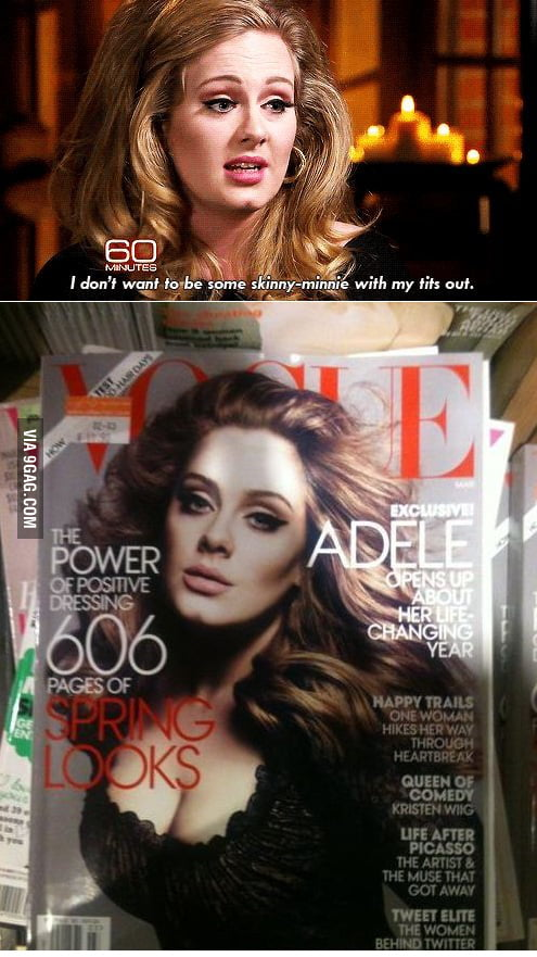 Adele forgot what she said