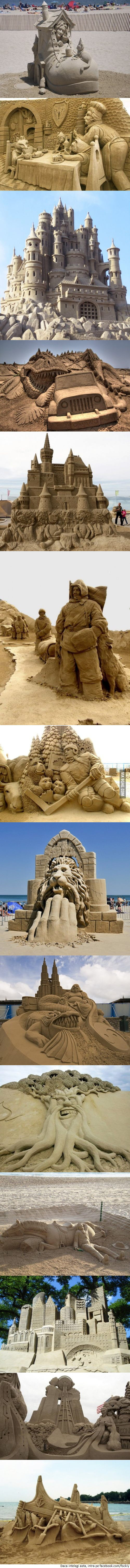 Insane sand sculptures