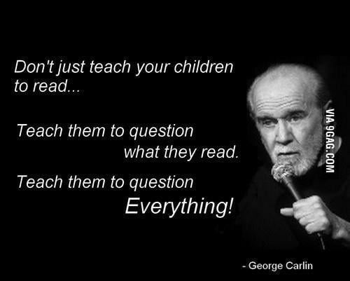 Well said George, well said...