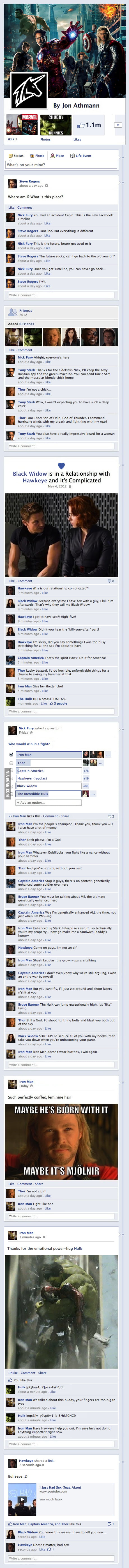 The Avengers Assemble on Facebook