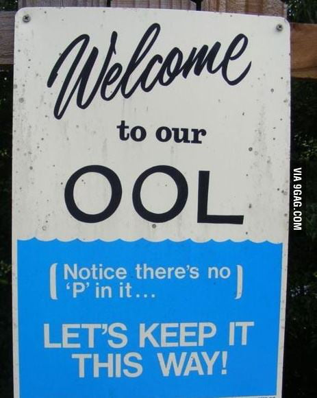 Pool sign, you're doing it right !