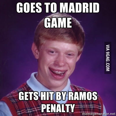 Bad Luck Brian went to the Madrid game