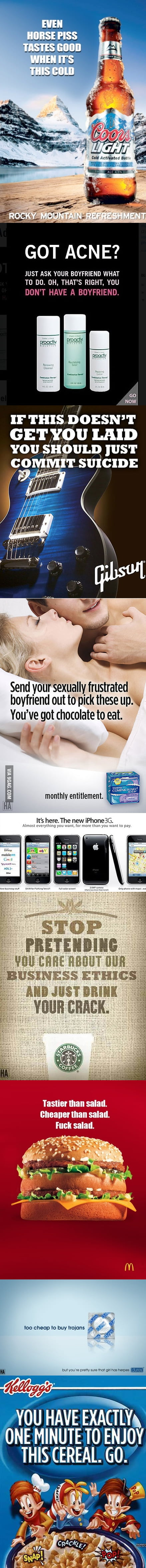 If advertisements told the truth