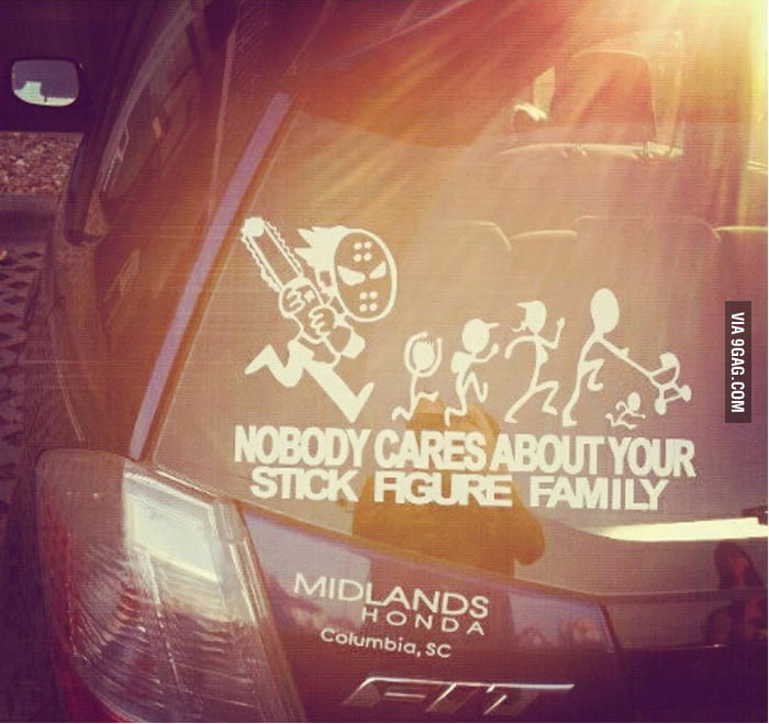 Nobody cares about your stick figure family!