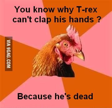 Poor T-rex...
