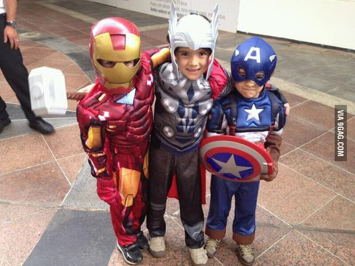 The Avengers as kids