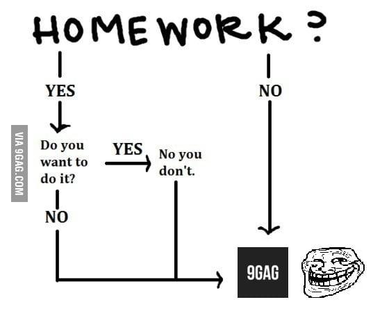 How i do my homework 9gag