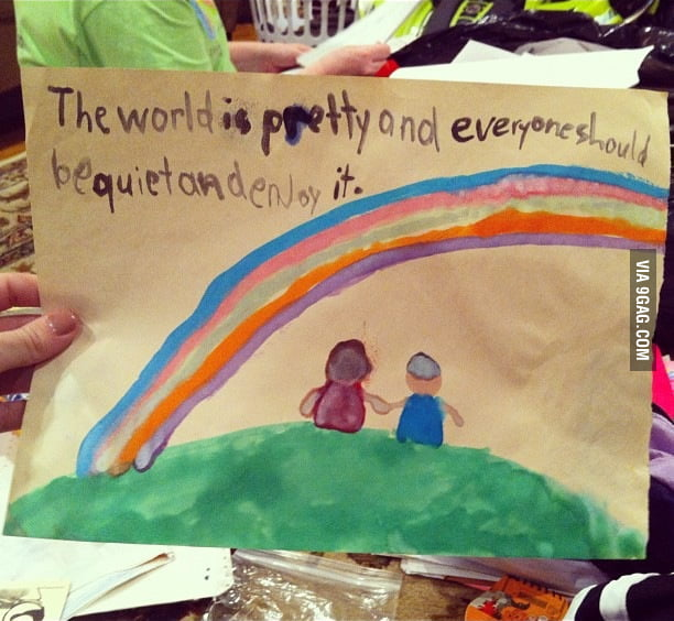 The Brilliant Philosophy Of A 1st Grader.