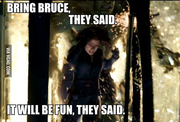 Bring Bruce Banner, they said.