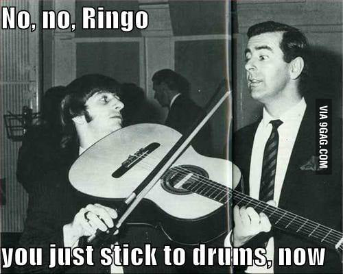 Ringo... to the drums!