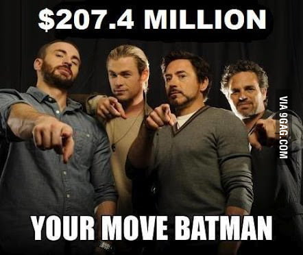 Your move Batman...