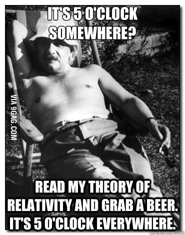 Chillin' Albert Einstein