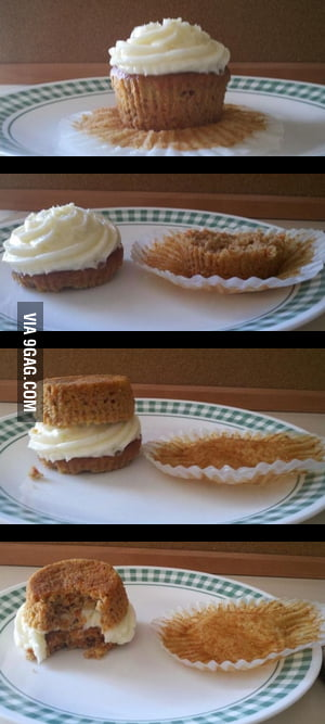 You've been eating cupcakes wrong your whole life !