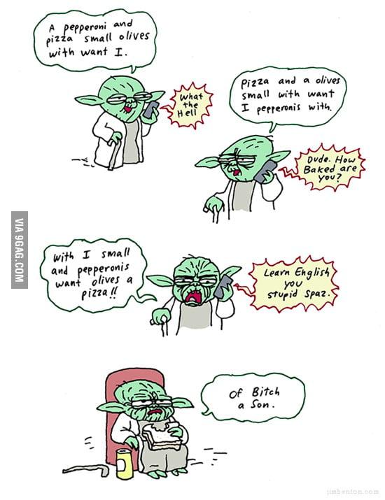 Yoda ordring pizza