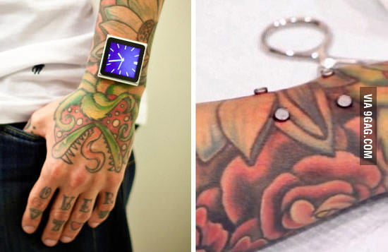 This guy drilled magnets into his arm to mount his iPod