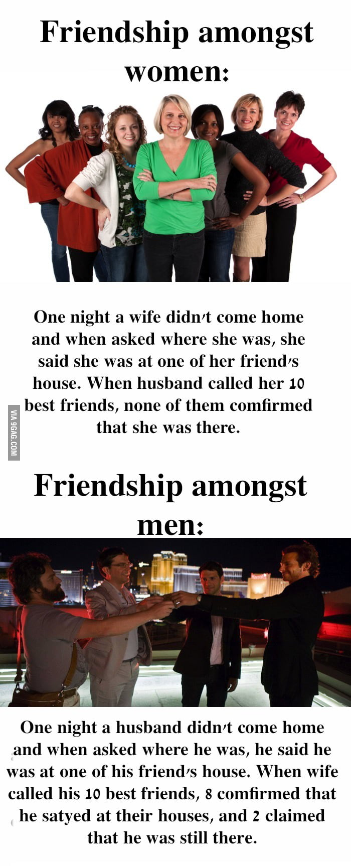 That's called bro code. Where is a sis code? No such thing.