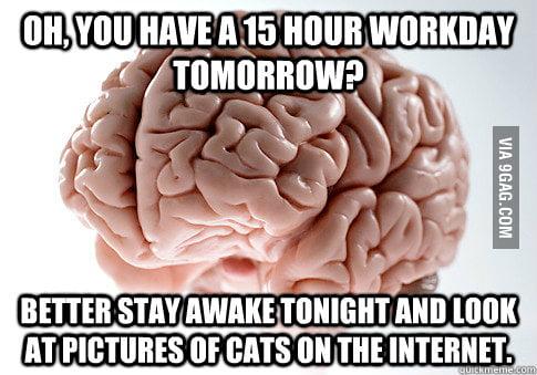 F**king brain.