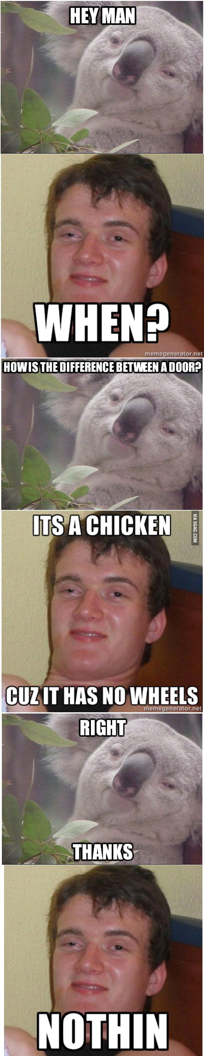 Yeah, it's a chicken.       (ARKAS)
