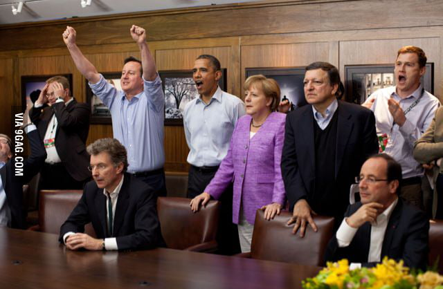 Reaction of CL final at G8 summit