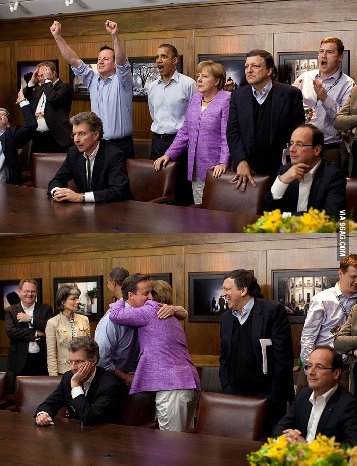 When the political leaders watch UEFA Final together...