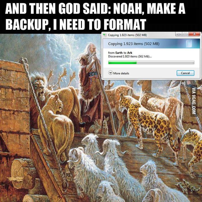 God needs a backup