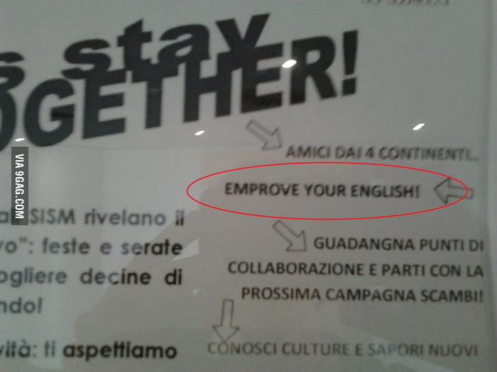 Your english, EMPROVE IT!!!