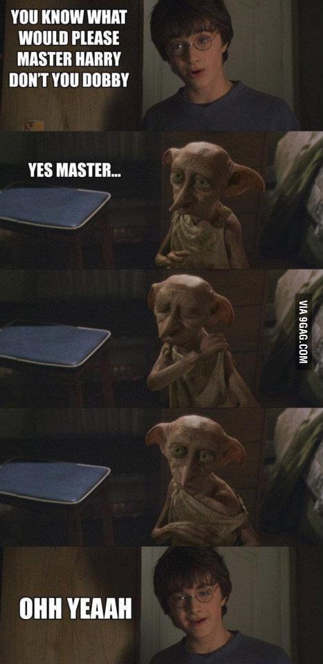 Master Harry is horny