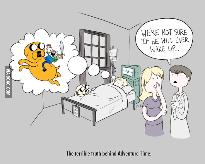 The terrible truth behind Adventure Time.