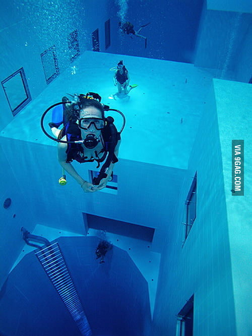 World's deepest diving pool in Belgium is 34.5 m deep...