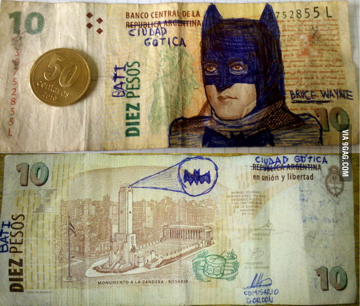 Batipesos, the new Argentinian currency.