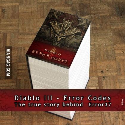Diablo III - Error Codes Book