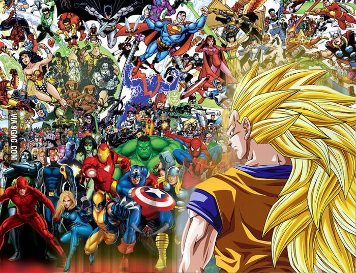 Western Superheroes vs. Son Goku! Epic Match Up