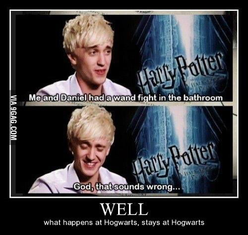 What happens in Hogwarts, stays at Hogwarts.