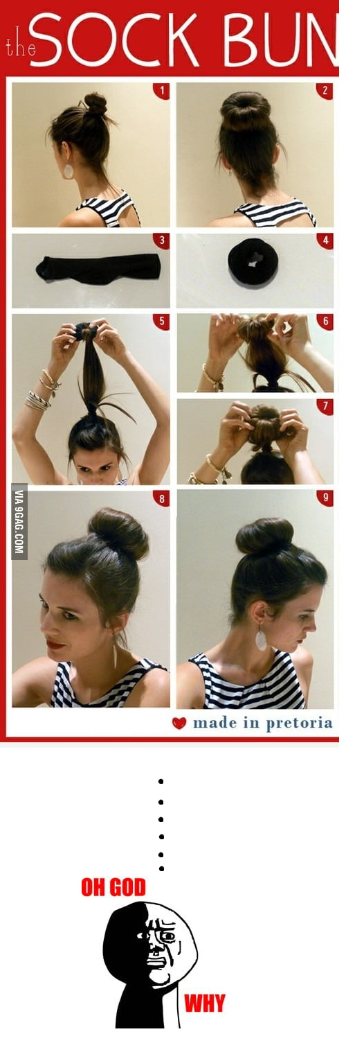Как сделать пучок из коротких волос с помощью резинки
