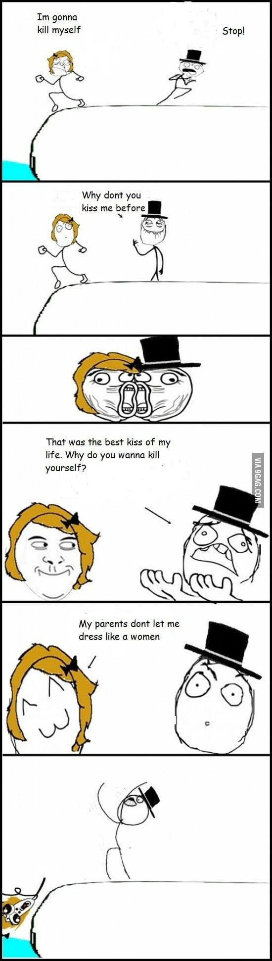The last kiss