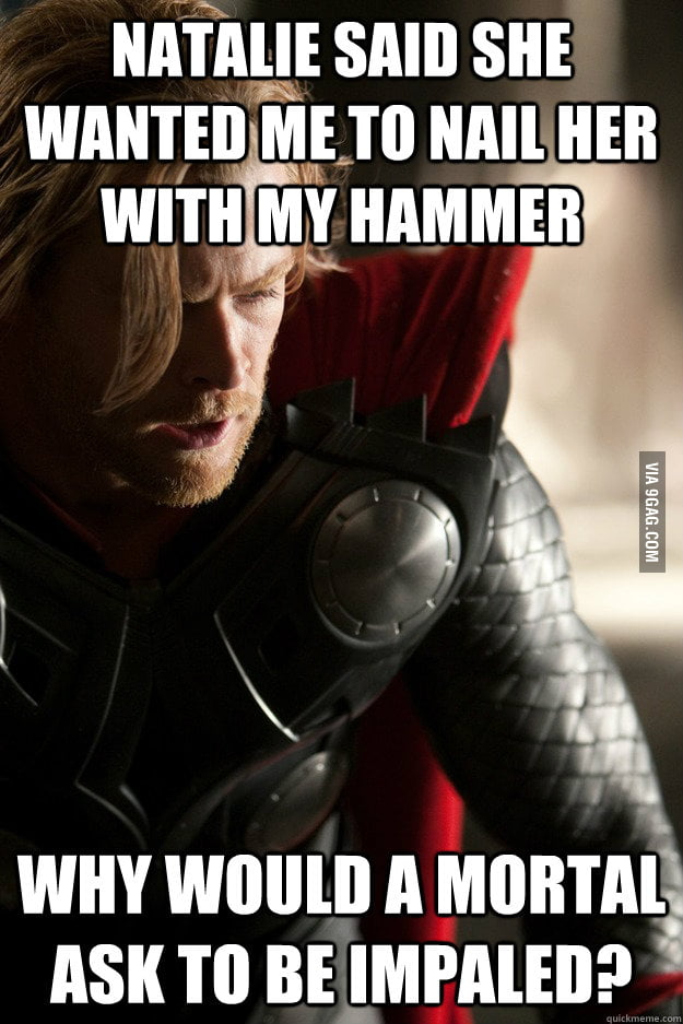 Sexually Oblivious Thor