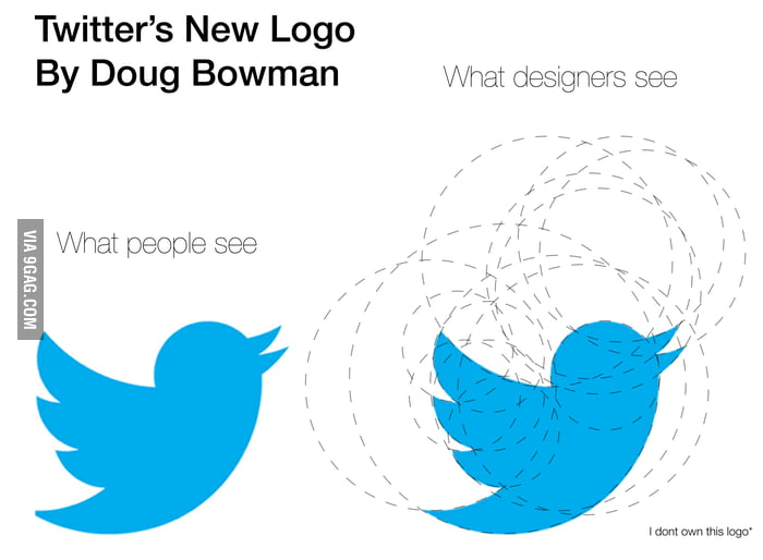What designers see the Twitter's new logo