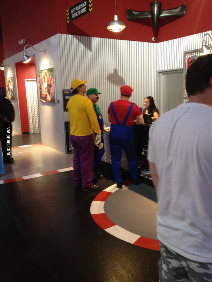 Went go-karting today. Then these guys showed up.