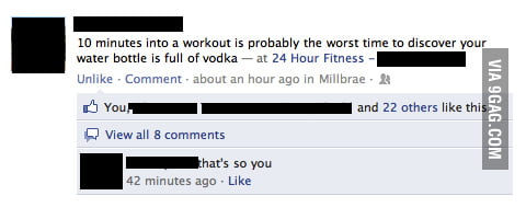 Sounds like a rough workout